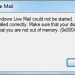 Windows Live Mail error 0x80041161 (Fix)