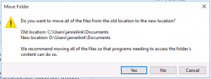 Move a Windows User Documents Folder, step 03