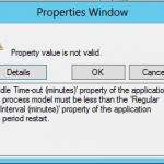 Set IIS Application Pool recycle defaults to Specific Times, not Regular Time Interval