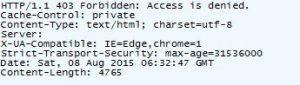 Verifying BaiduSpider is blocked with Fiddler