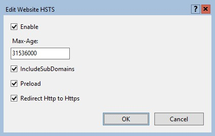 Enable HSTS in IIS website