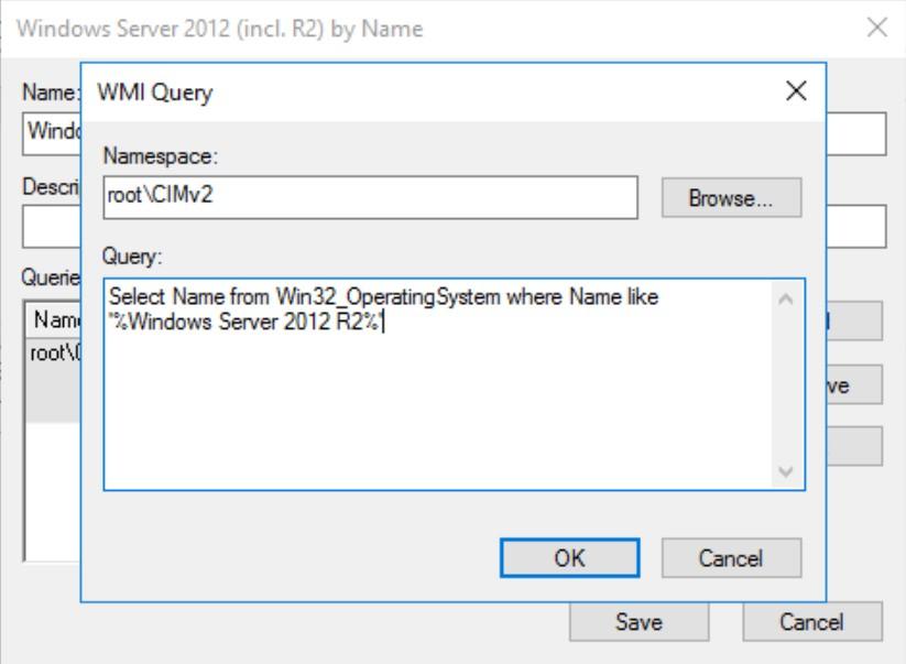WMI Query GPMC WMI Filter