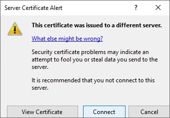 IIS Manager Server Certificate Alert